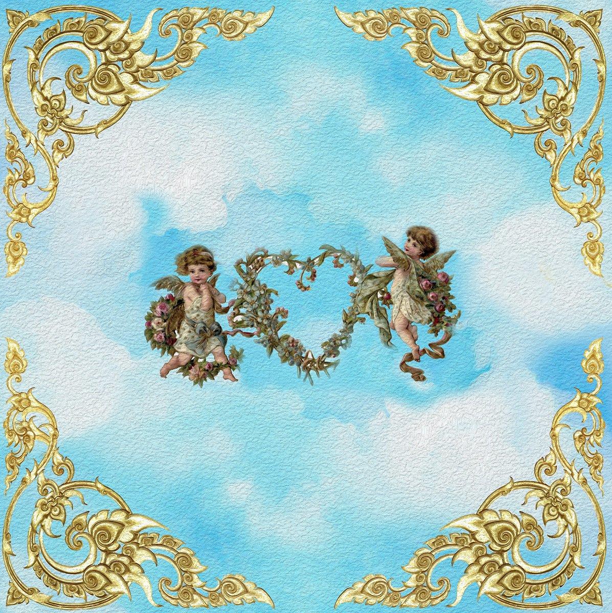 Ангелочки картинки для потолка